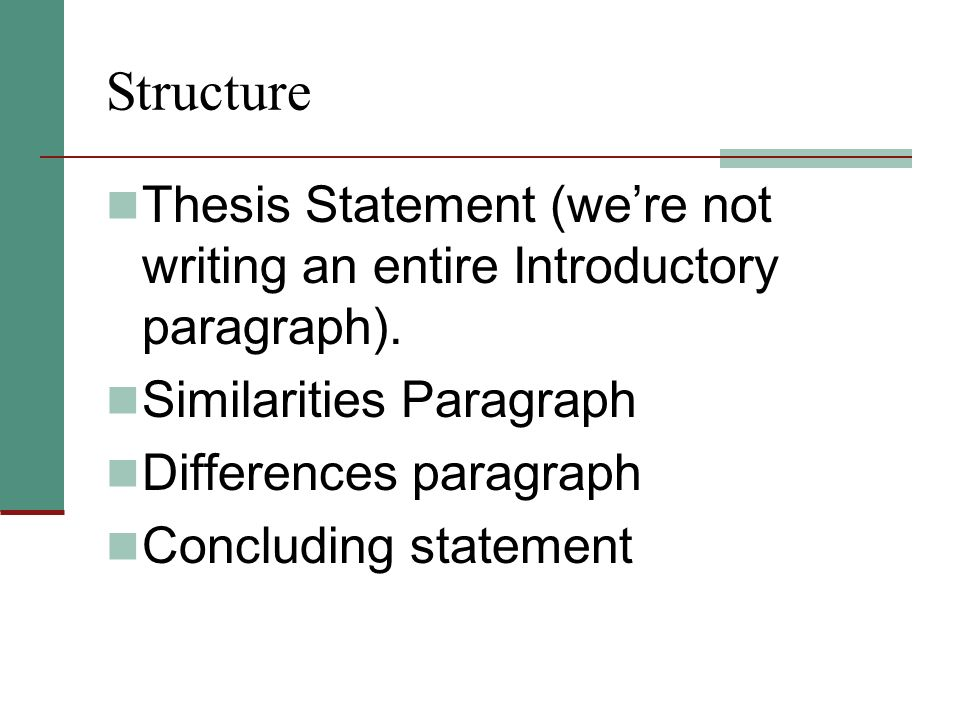 How to write a thesis statement using compare and contrast