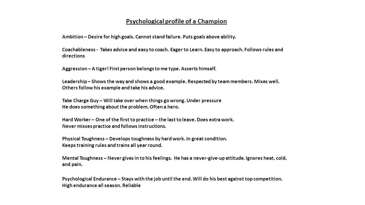 psychological profile example - Romeo.landinez.co
