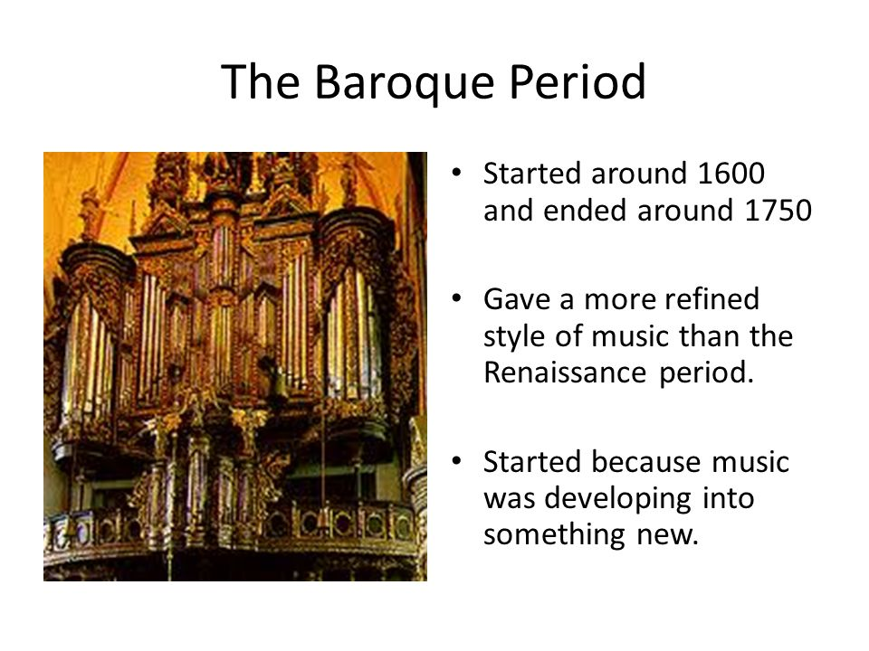 an introduction to the origins and history of the baroque period An introduction to the origins and history of the baroque period pages 2 words 1,501 view full essay more essays like this: renaissance, baroque period, baroque art.