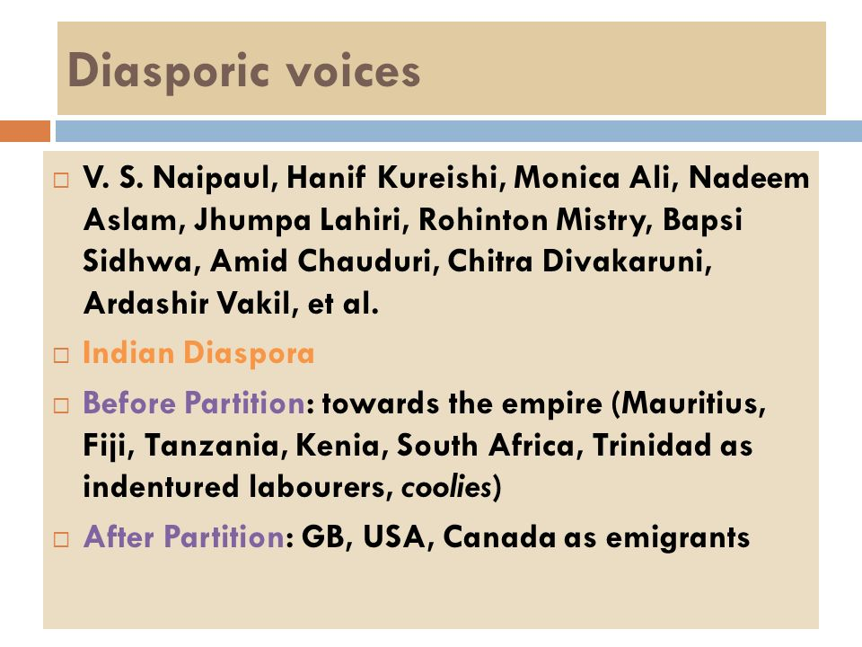 Diasporic voices