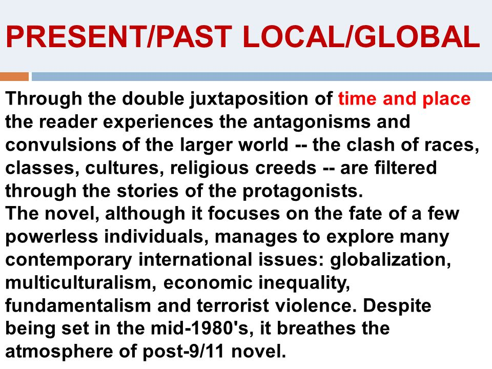 PRESENT/PAST LOCAL/GLOBAL