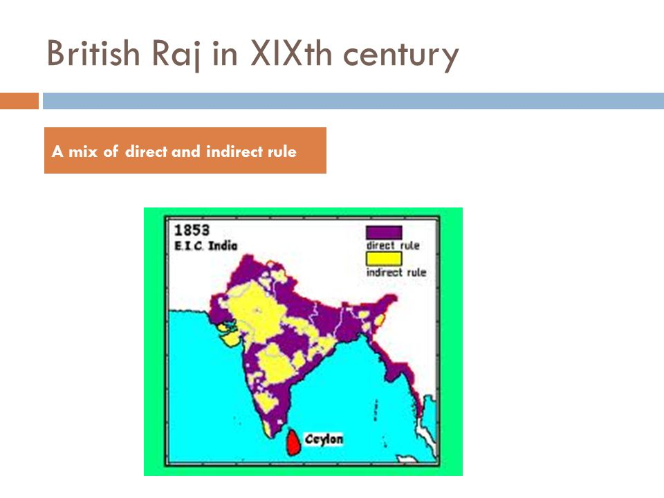 British Raj in XIXth century