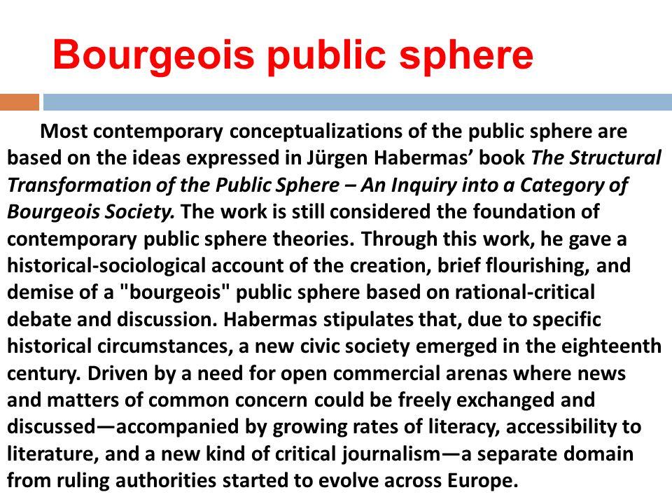 Bourgeois public sphere