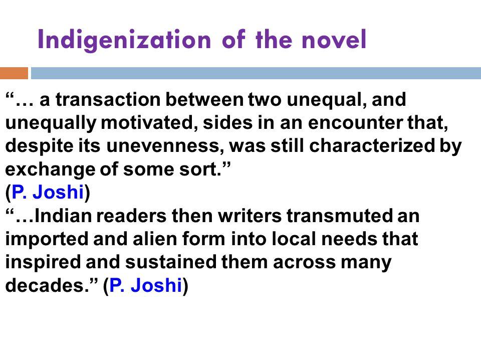 Indigenization of the novel
