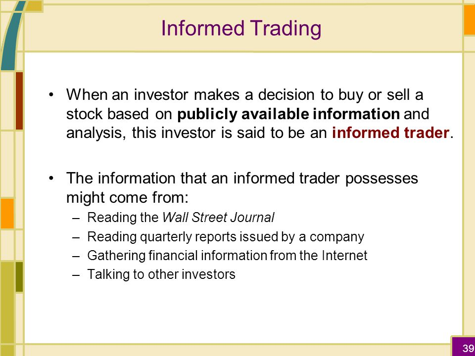 Informed trading in stock and option markets journal of finance