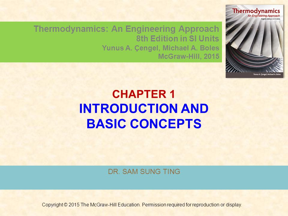 1 chapter 1 introduction and basic concepts thermodynamics an engineering approach