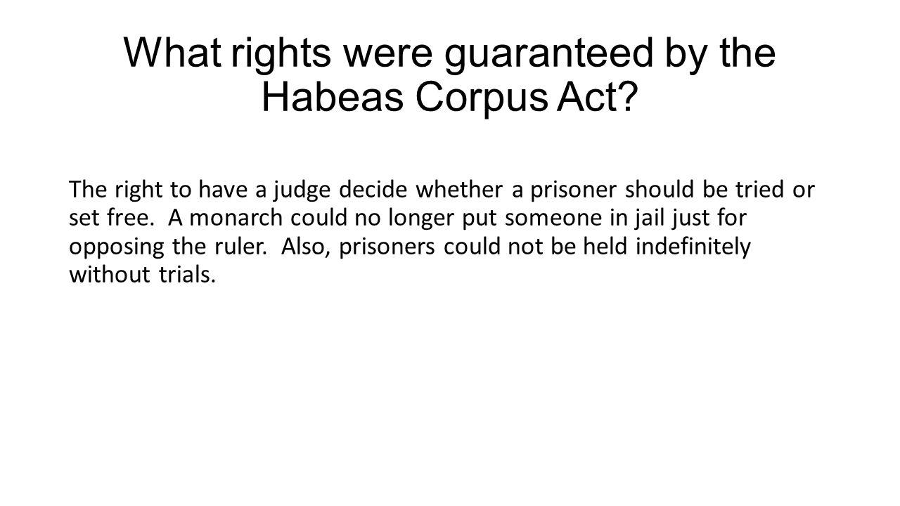 Habeas Corpus Act of 1679