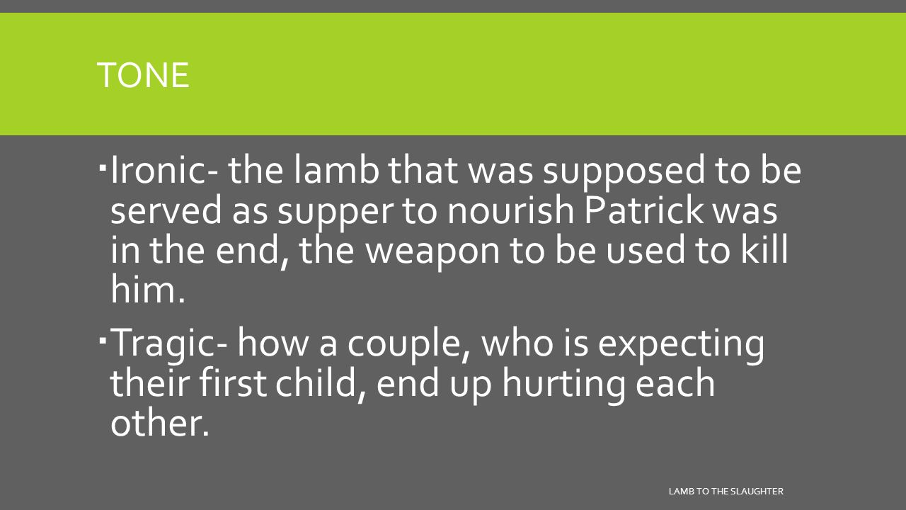 lamb to the slaughter mary and patricks relationship test