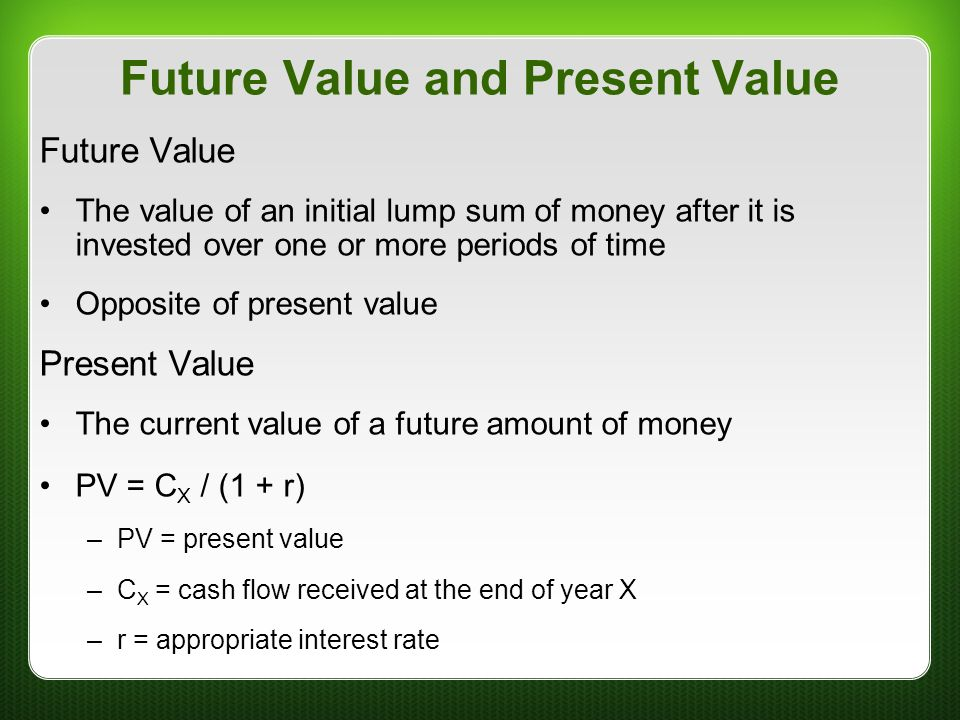 how to work out present value for future cash flows