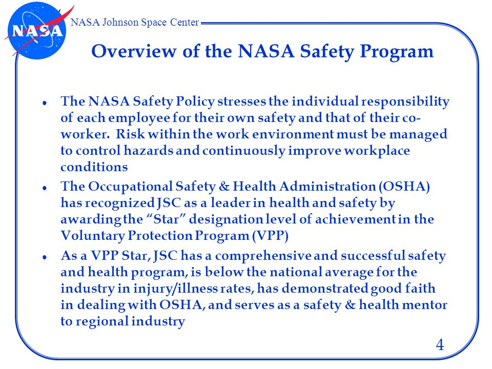 NASA JSC David T. Loyd Safety and Test Operations Division ...