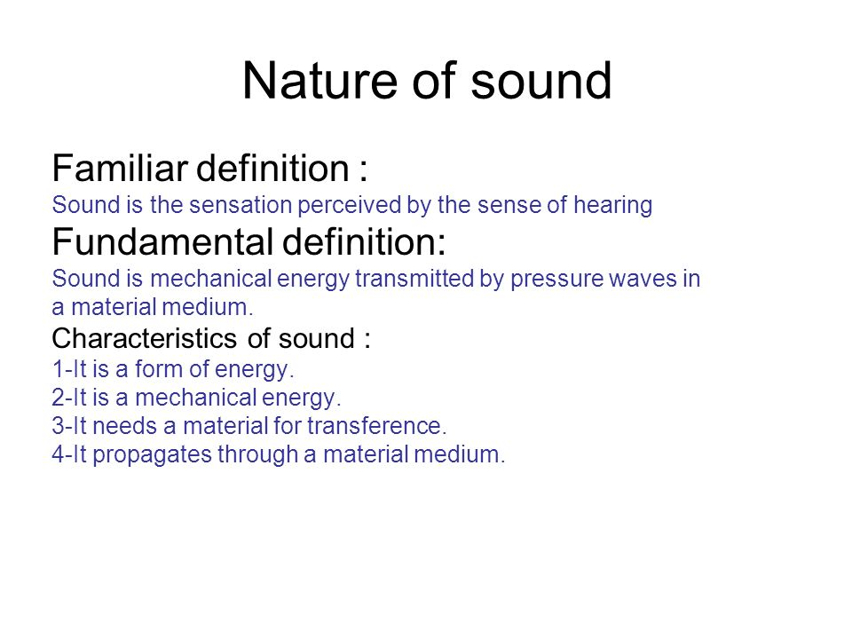 Elegant Nature Of Sound Familiar Definition : Fundamental Definition: