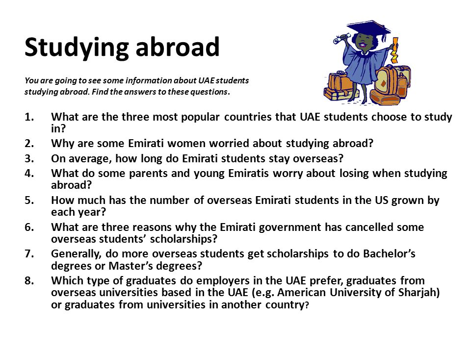Why do you want to study abroad essay