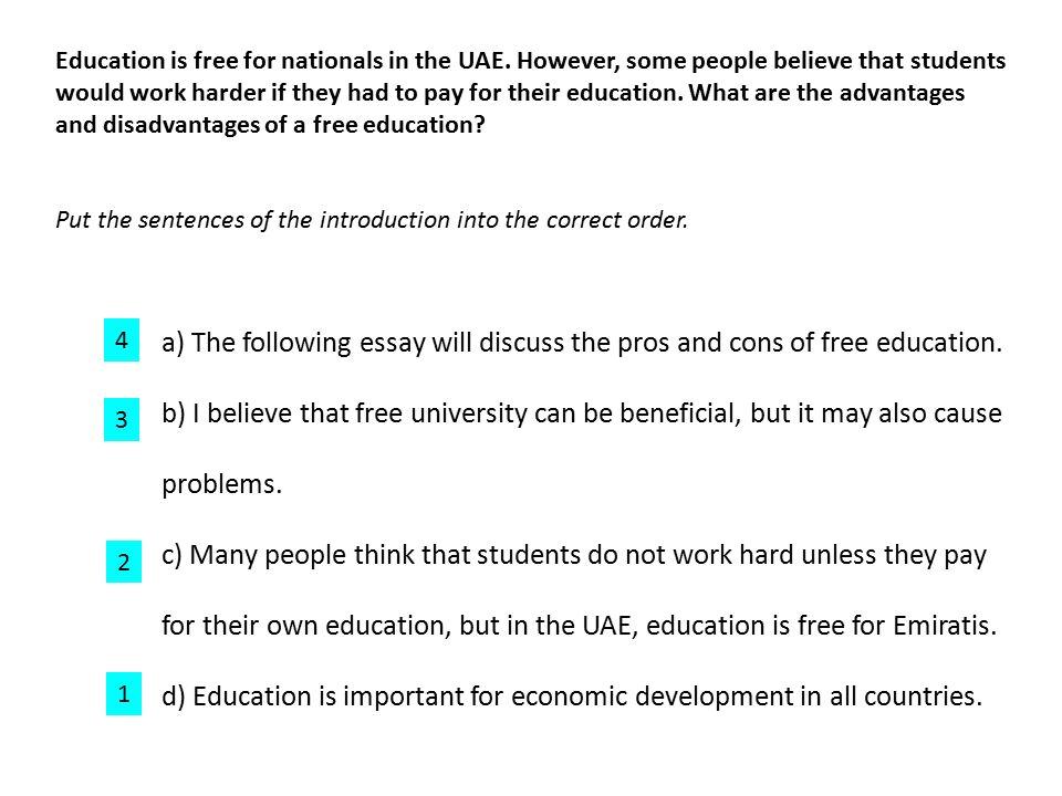 Education Economic Development Essay