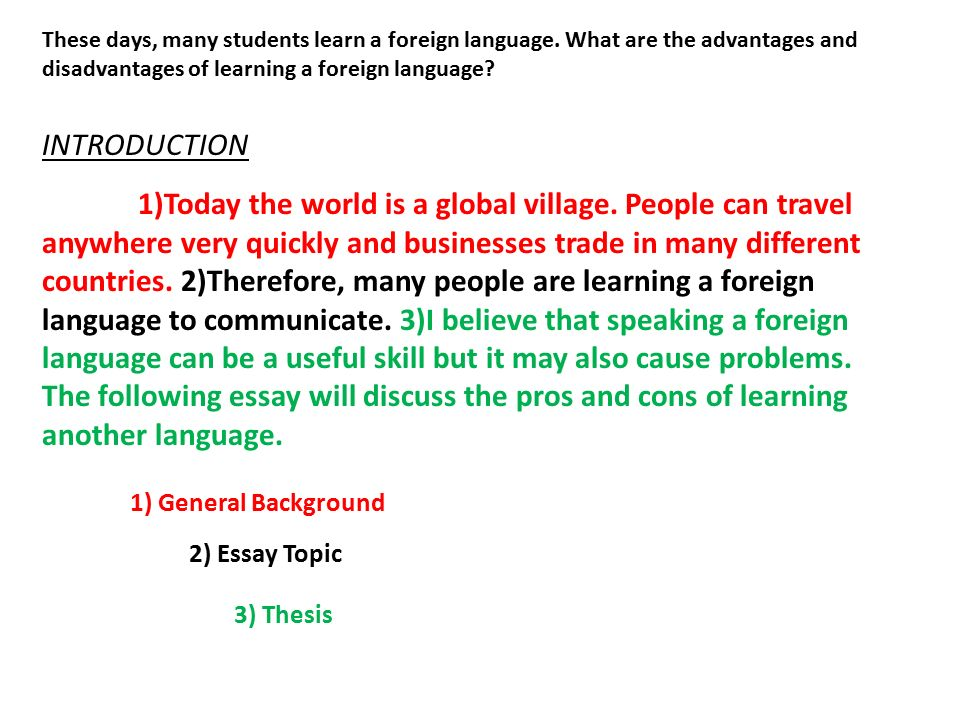 essay about benefits of learning a new language