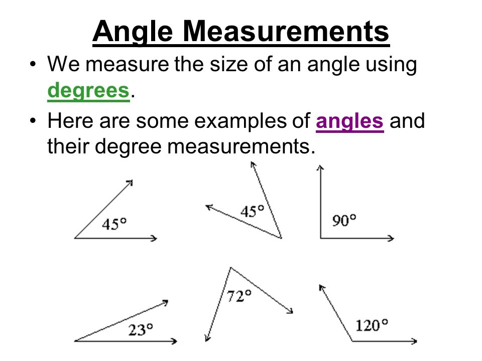 Measure Of An Angle : Angles ppt video online download