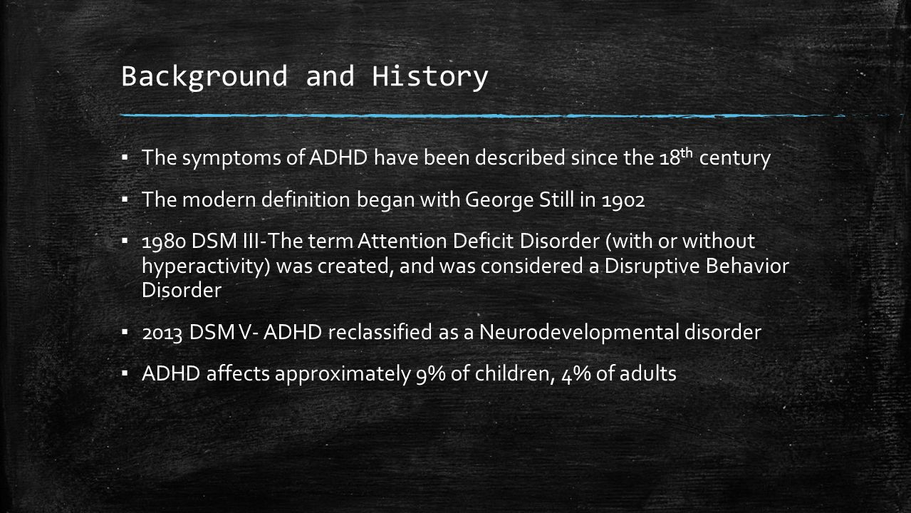 history and symptoms of attention deficit disorder What is attention deficit disorder attention deficit disorder (add) is a term used for people who have excessive difficulties with concentration without the presence of other adhd symptoms.