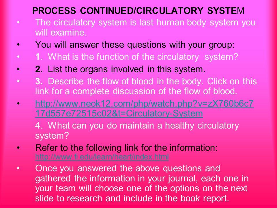 Circulatory system essay