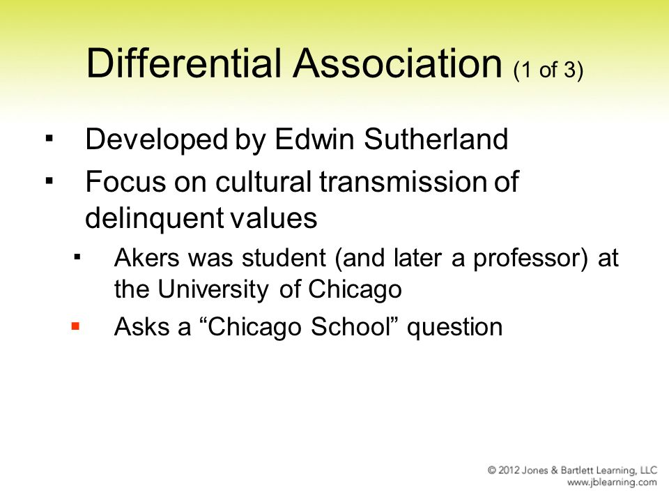edwin sutherland differential association pdf