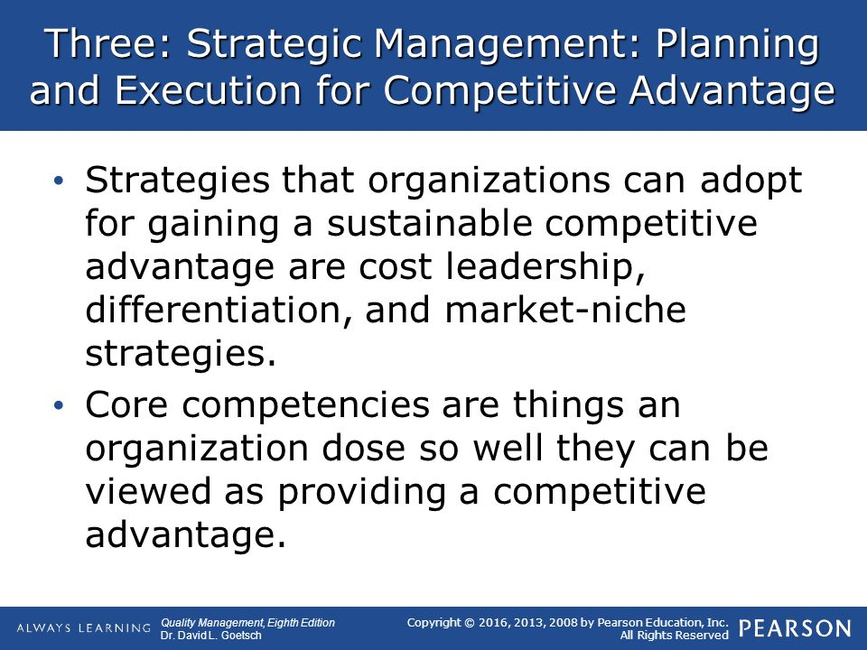 macroenvironment strategic management and competitive advantage Strategic orientation and environmental uncertainty strategic orientation is closely a causal model of linkages among environmental dimensions, macro organizational characteristics, and powell, t 1995 total quality management as competitive advantage: a.