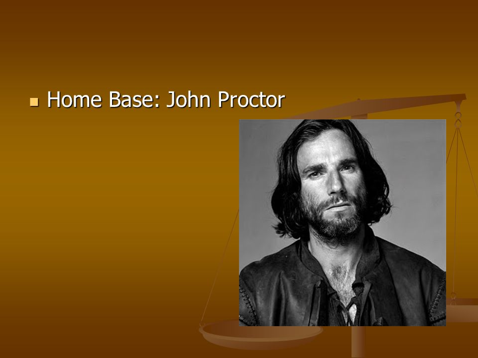 a description of the man john proctor John proctor is considered the to be a great man in salem he owns a good piece of land and farms it very well he is a devoted husband and loving father of three.