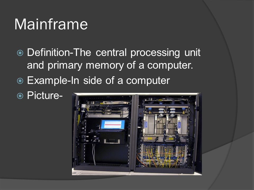 a description of the central processing The central processing unit (cpu) of a computer is a piece of hardware that carries out the instructions of a computer program it performs the basic arithmetical, logical, and input/output operations of a computer system.
