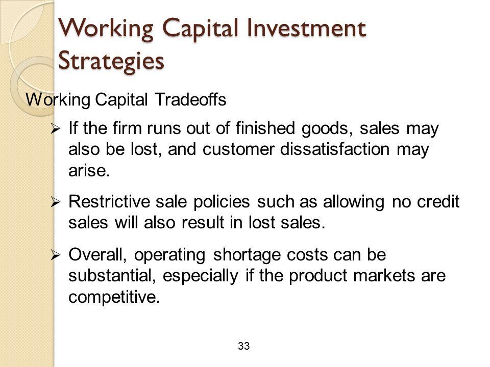 working capital strategis