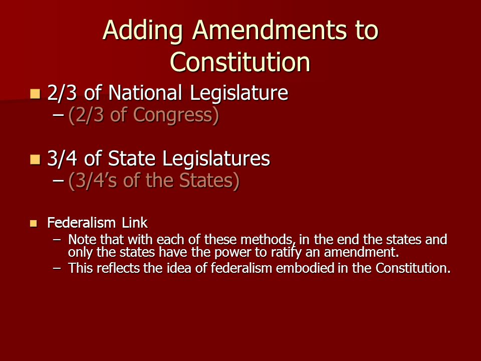 Amendments ppt download