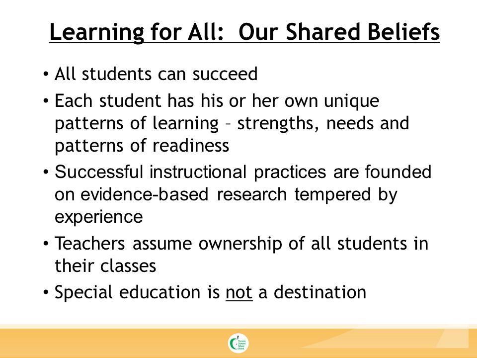 Belief all students can learn. Focus on... - KIPP Indy ...