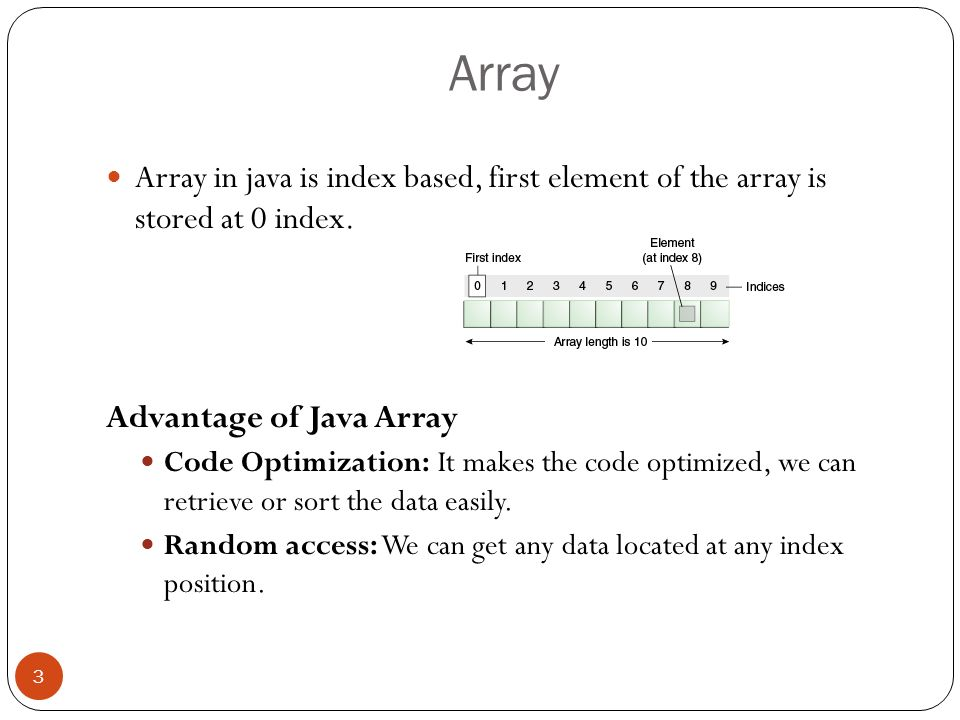 Java array tutorial .ppt