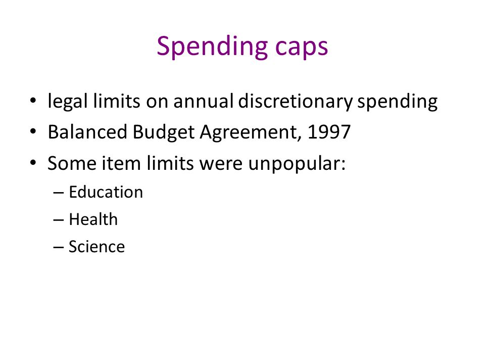 Ch 10 section 3 balanced budget amendment ppt download 12 spending caps legal limits on annual discretionary spending balanced budget agreement platinumwayz