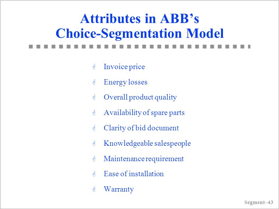 abb electric segmentation Abb electric segmentation case solution, abb electric segmentation case solution this case is about business overall market sales of electrical devices dropped 50.