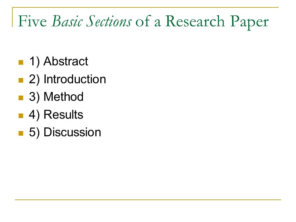 basic parts of a research paper Running head: empirical social science paper 1 writing the empirical social science research paper: a guide for the perplexed josh pasek university of michigan.