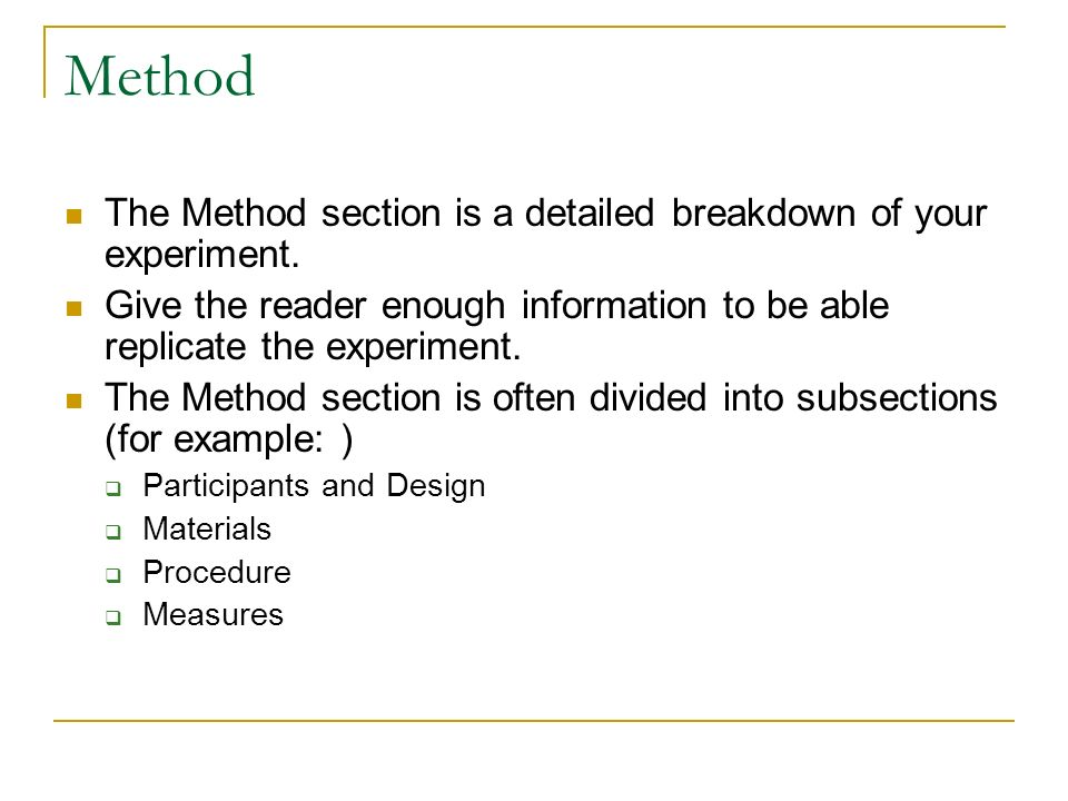 apa research paper participants section Ø methodology section is one of the parts of a research paper  describing the samples/ participants 2.