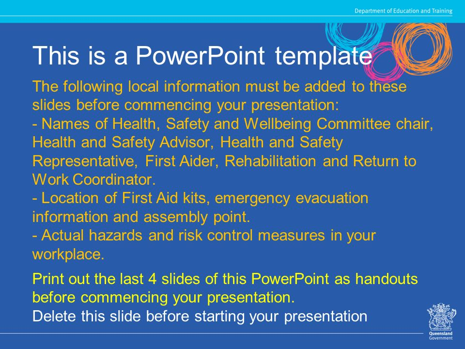 health, safety and wellbeing induction - ppt download, Presentation templates