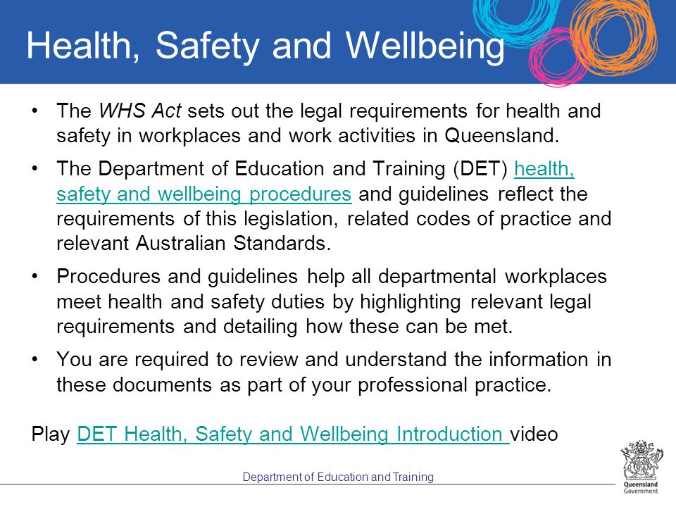 legislative framework in health and safety Managing health and safety safety and health provide a framework for measuring cover employee safety and health consultation, safety committee.