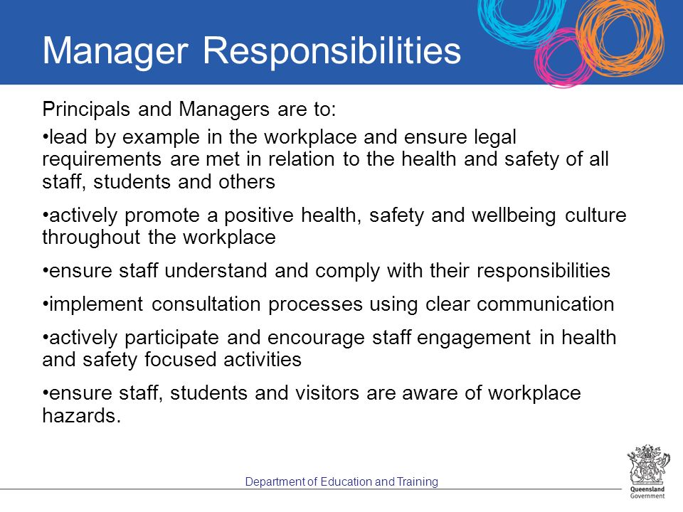 health and safety responsibilities essay In spirit, the occupational health and safety act, on the one hand, promotes the  partnership between employers and workers in sharing the responsibility for.