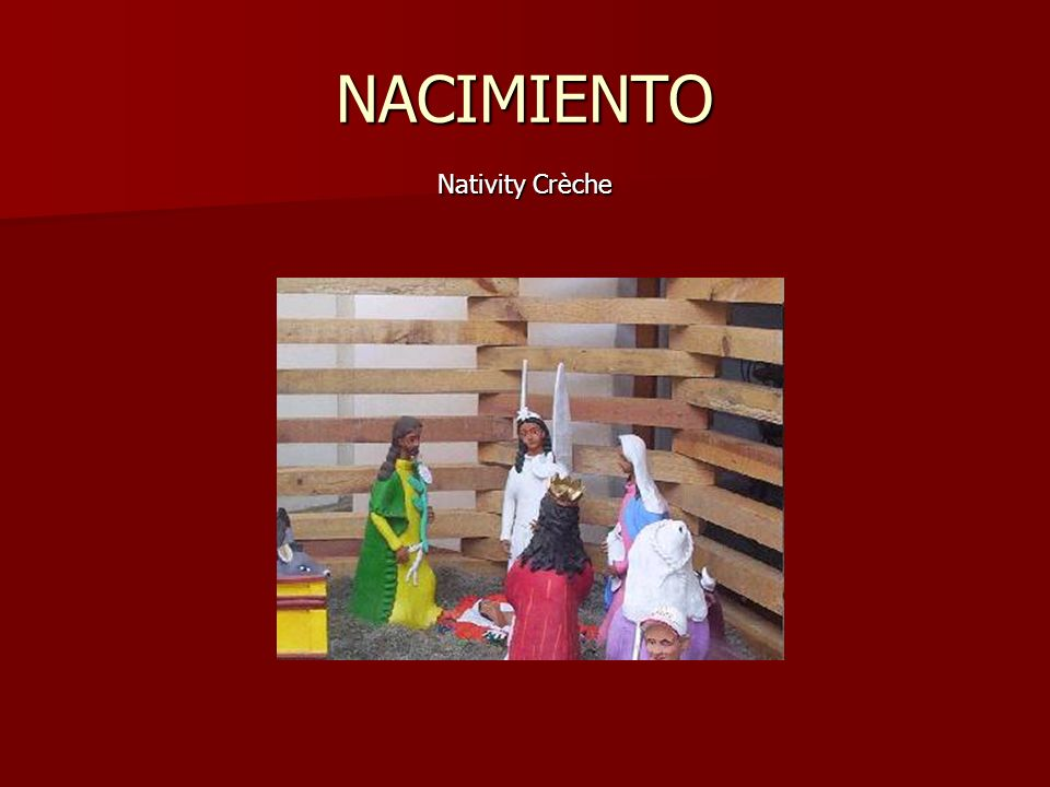 NACIMIENTO Nativity Crèche