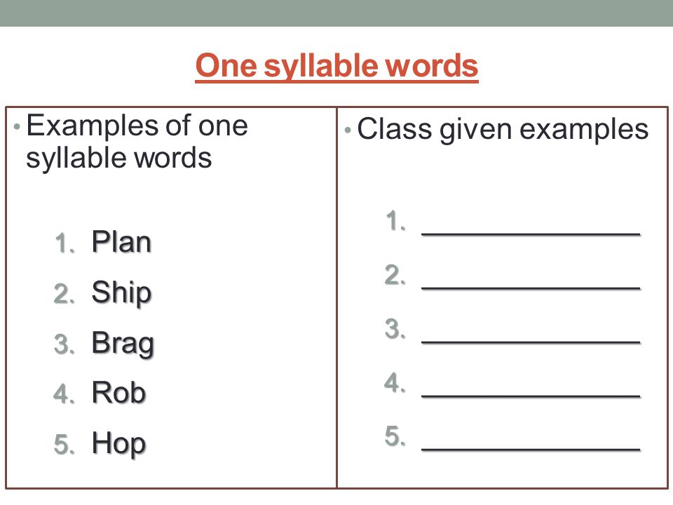essay using one syllable words One syllable words words list list of 7,291 words that are single syllable.