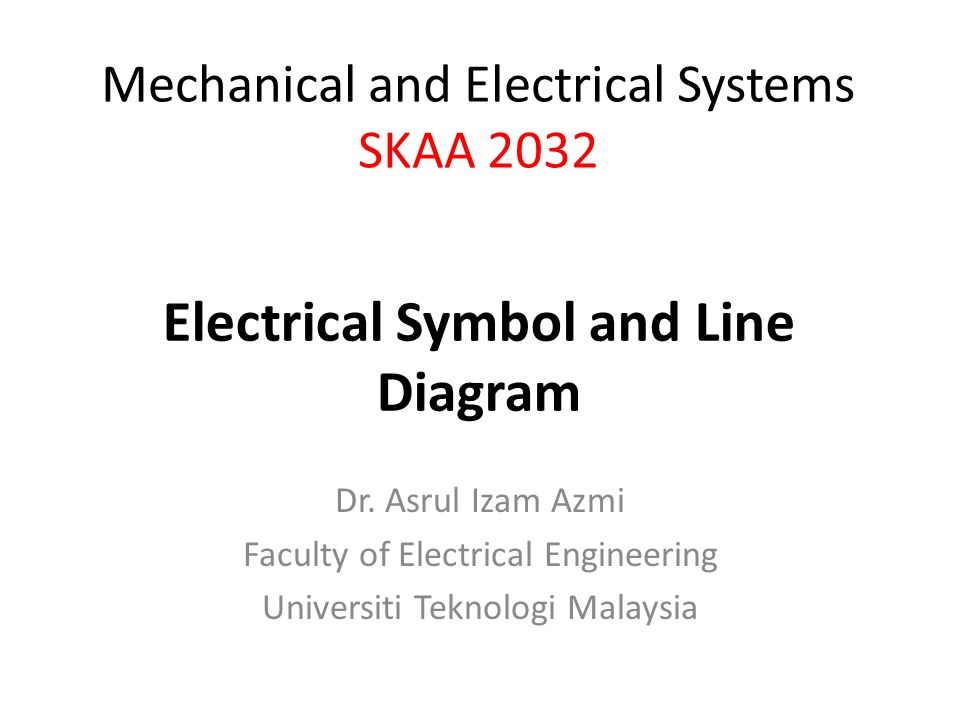 Electrical Symbol and Line Diagram - ppt video online download