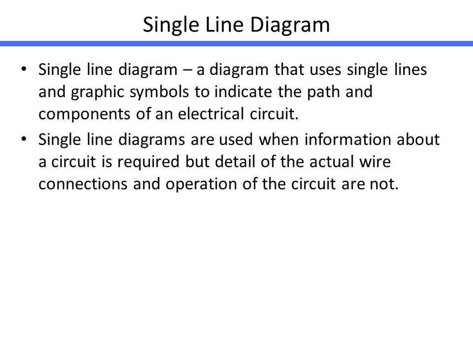 One Line Diagram Symbols And Components - Wiring Diagram