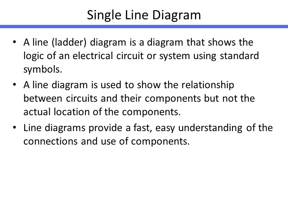 Electrical symbol and line diagram ppt video online download single line diagram a line ladder diagram is a diagram that shows the logic ccuart Choice Image