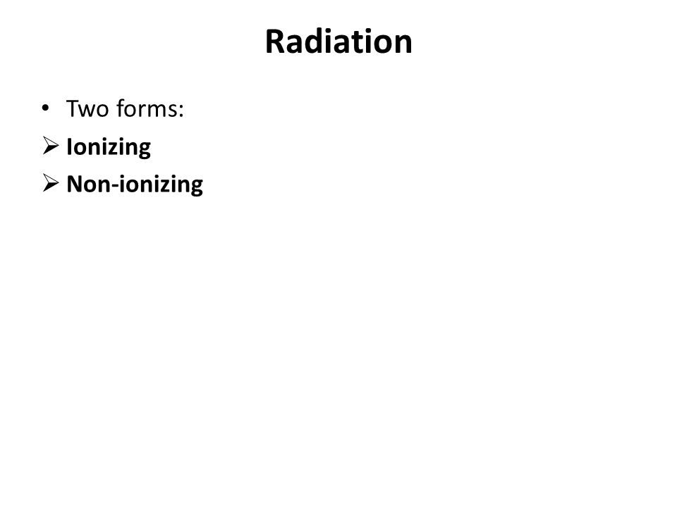 ionizing and nonionizing radiation pdf