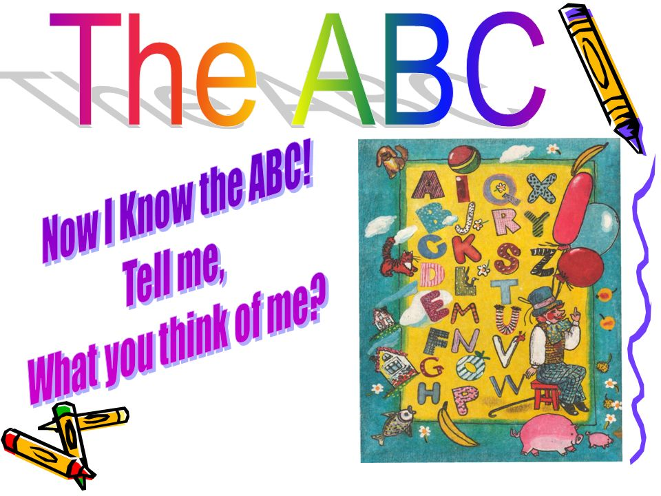 The ABC Now I Know the ABC! Tell me, What you think of me