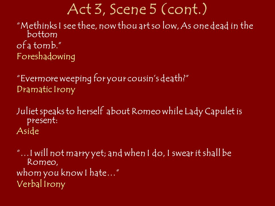dramatic irony in act 1 scene 5