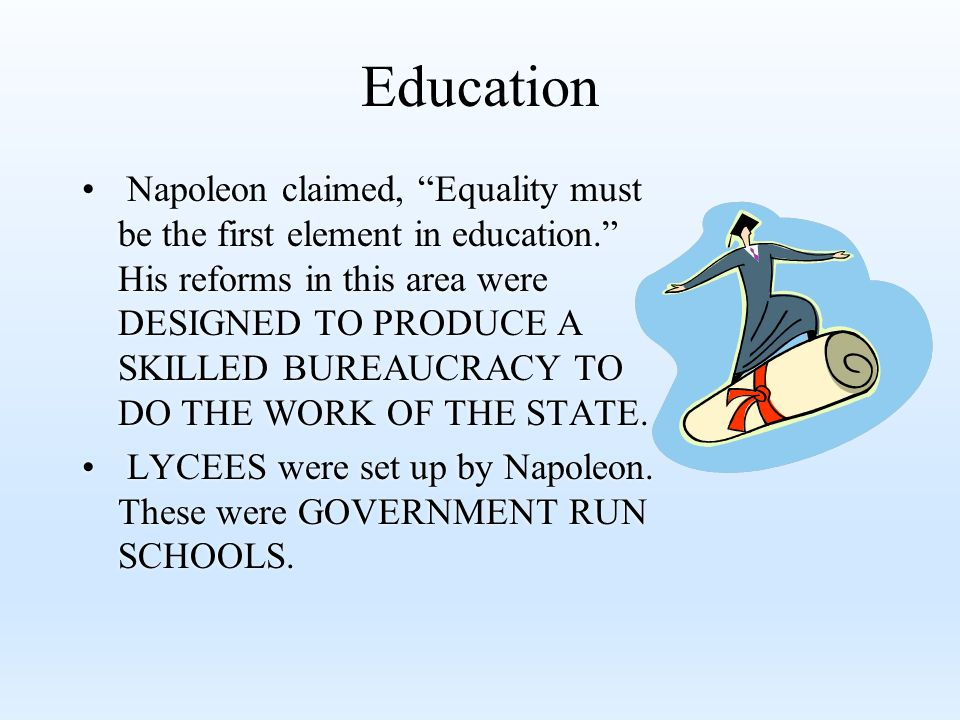 napoleon domestic policy The achievements of napoleon in the history of france domestic policy before napoleon came to power in 1799, france was in political, social and in economic crisis what was achieved during the course of th.