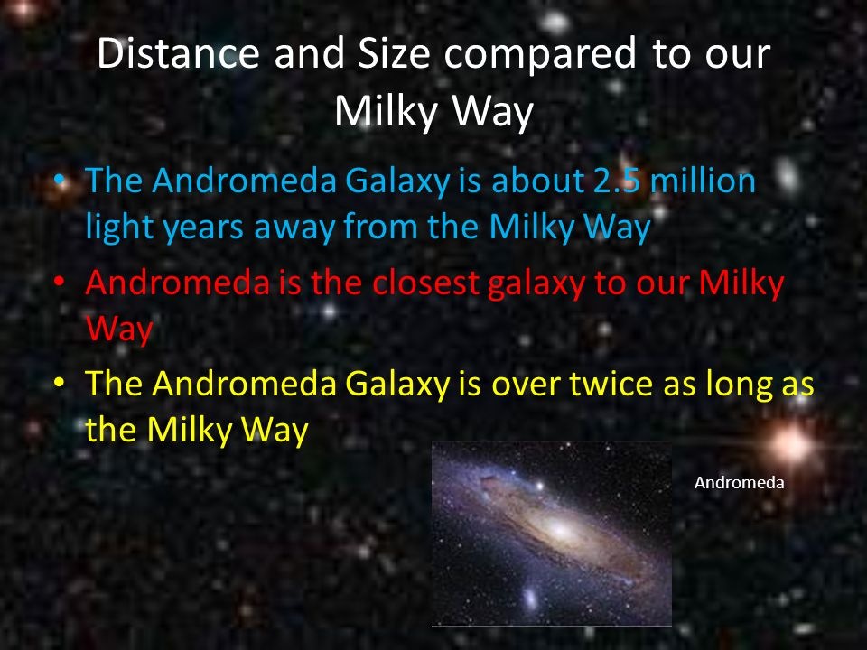 andromeda galaxy distance from - photo #49