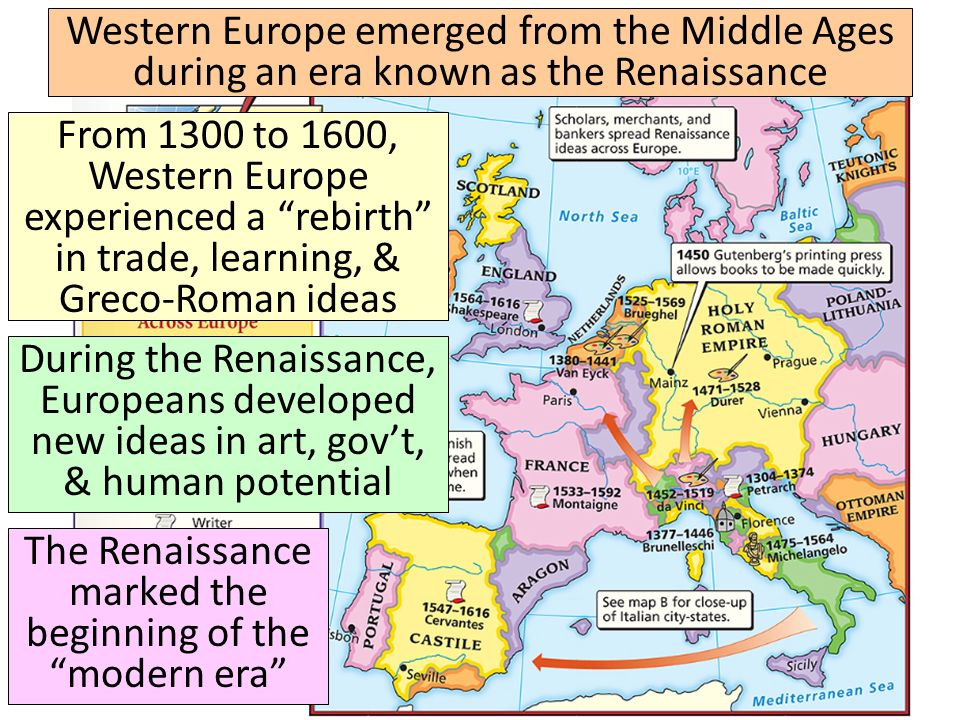 an overview of the renaissance in italy during the middle ages So the italian merchants chiefly traded with egypt during the renaissance byzance had been a major client during the middle ages but was not doing that well during the early renaissance after the fall of constantinople, the venetians would move in the ottoman empire chiefly in istanbul and aleppo lesser trades were.