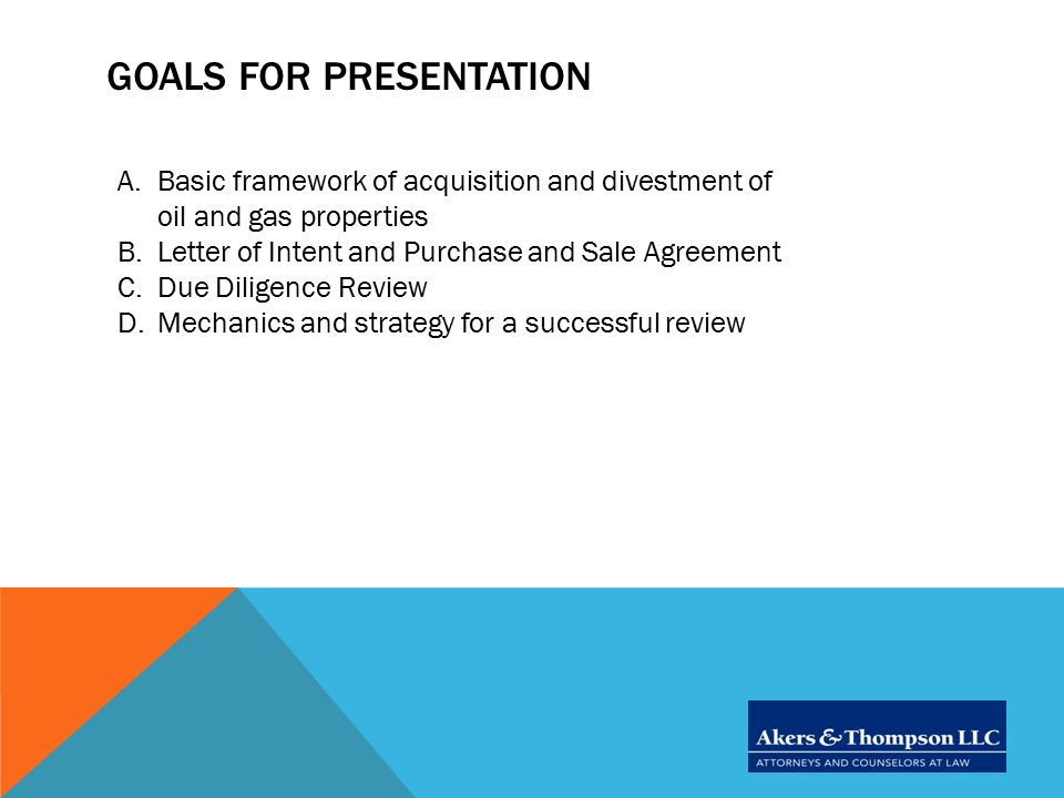 due diligence review letter of intent and beyond ppt video