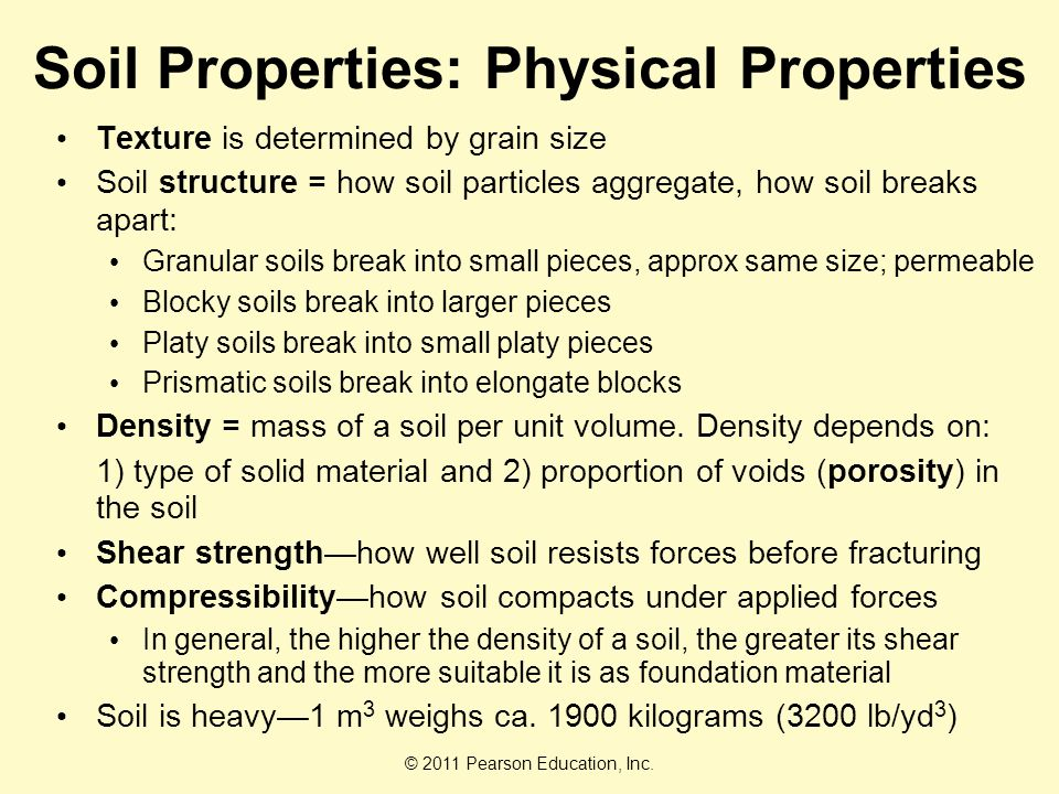 Soil resources chapter ppt video online download for Physical and chemical properties of soil wikipedia