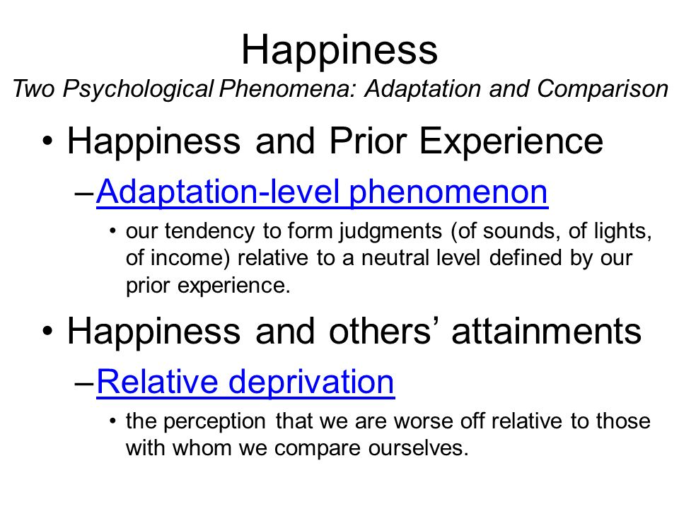 happiness as a social phenomenon You probably recognize this phenomenon from interactions you've had with your partner while some people will rank high in happiness and social belonging, others will find they've attained a sense of mastery and achievement.